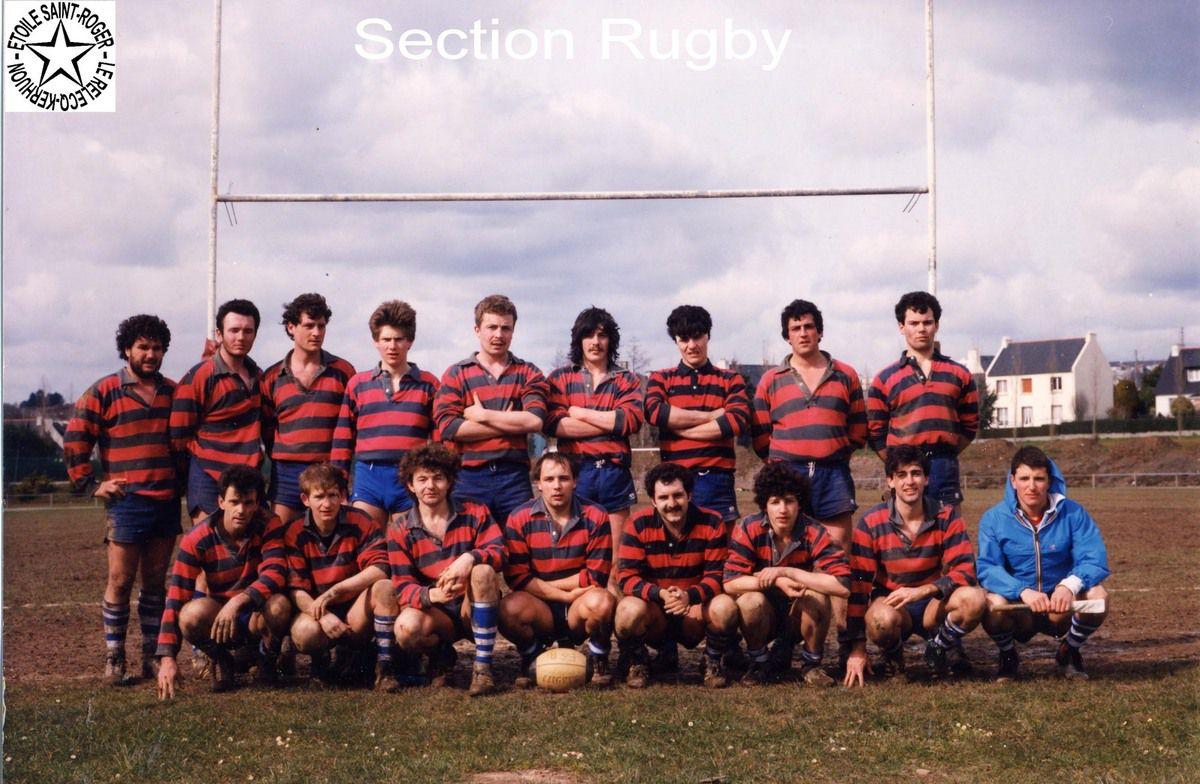 L'équipe de rugby seniors de l'ESR (années 80)