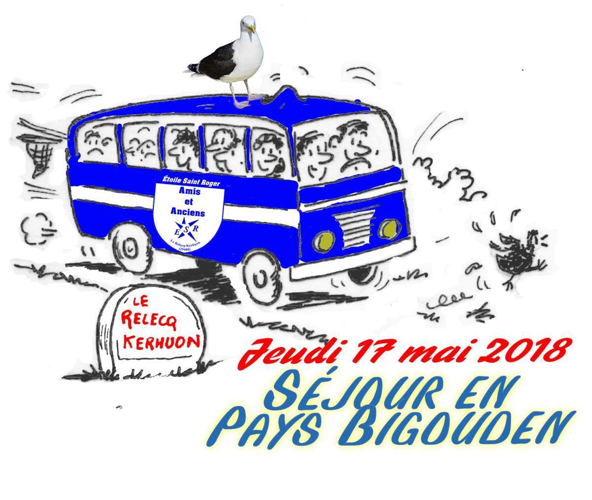 Croquis original de Jean Lunven - colorisation et texte : Amis et anciens de l'Étoile Saint Roger