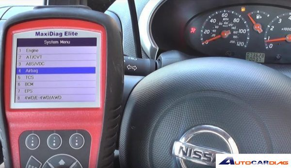 How to use Autel MD802 turn off Nissan Micra airbag light? - AUTEL