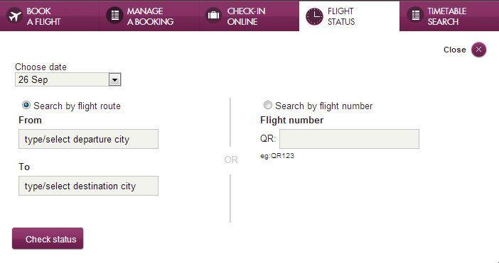 How to check Qatar airways PNR status?