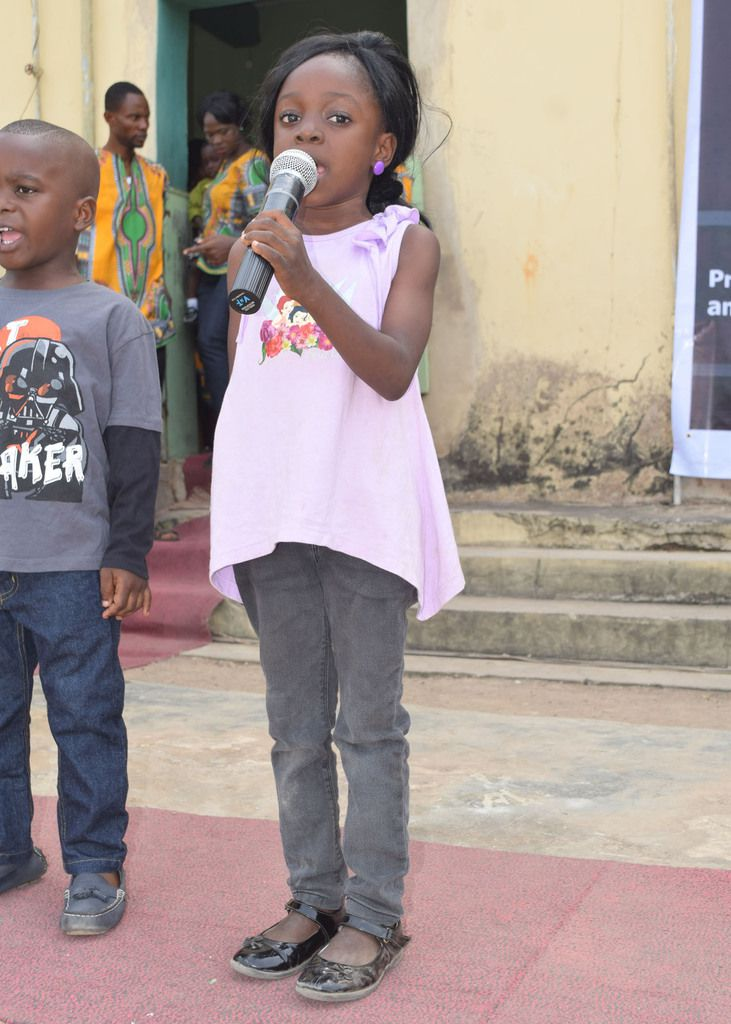 Some kids reciting powerfully  at the event