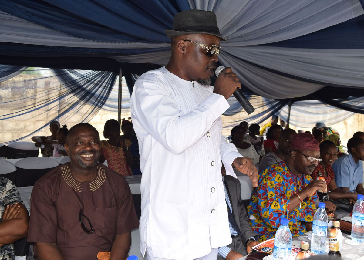 Our proprietor, Hon. Opeyemi Fatola during the occasion