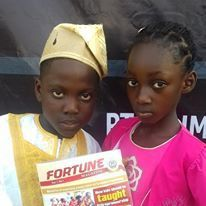 Tolu and precious, during the launching of the end of year party magazine