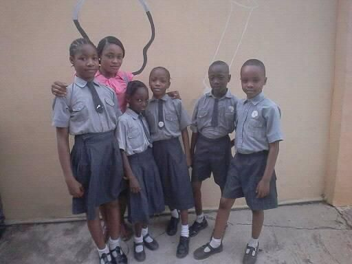 precious with some of her class Mates