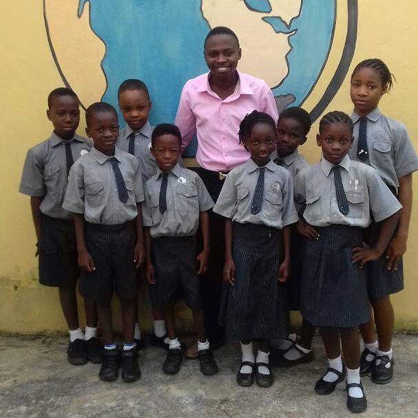 Precious with her fellow prefects and the Admin. of the school
