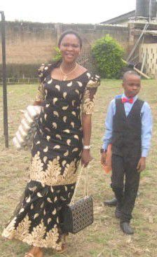 from right (Ibrahim with mum)