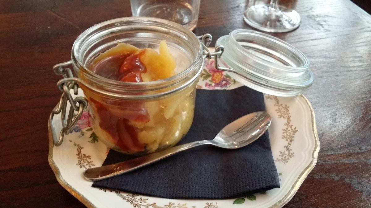 Compotée de pommes avec caramel au beurre salé Mon Loup Restaurant Paris 17