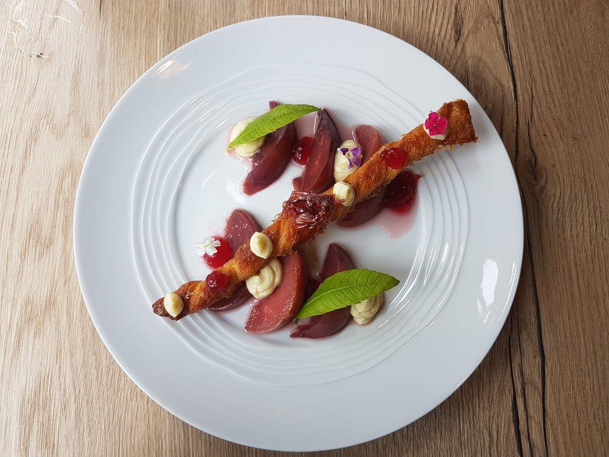 Pêche nectarine infusée Le Beslay Paris 11 restaurant