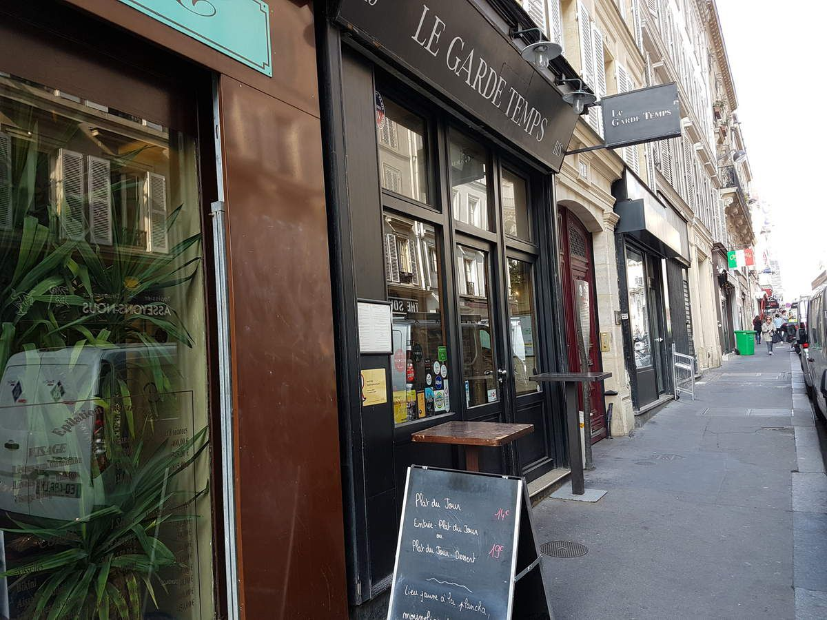 Le Garde Temps Paris 9 Restaurant rue Fontaine