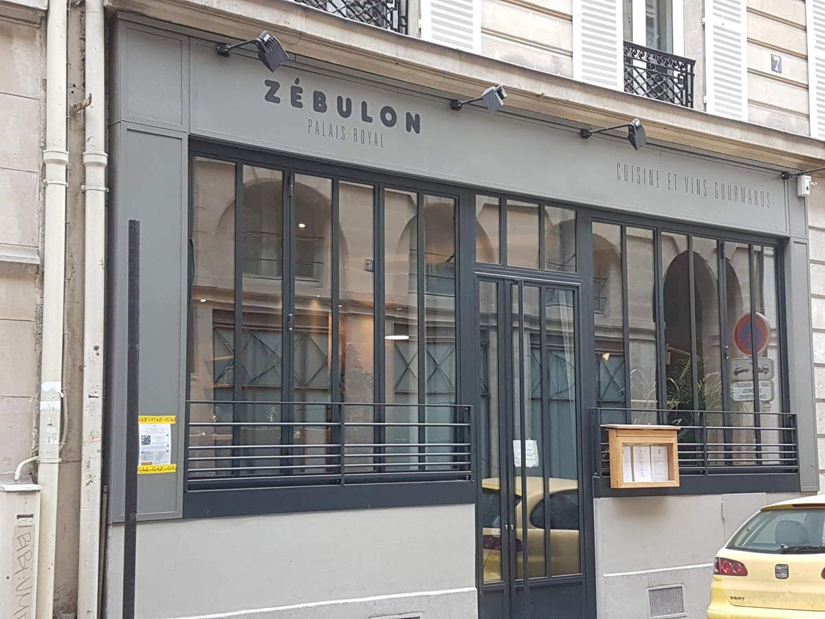 Zébulon Restaurant Paris 1, rue de Richelieu façade extérieure