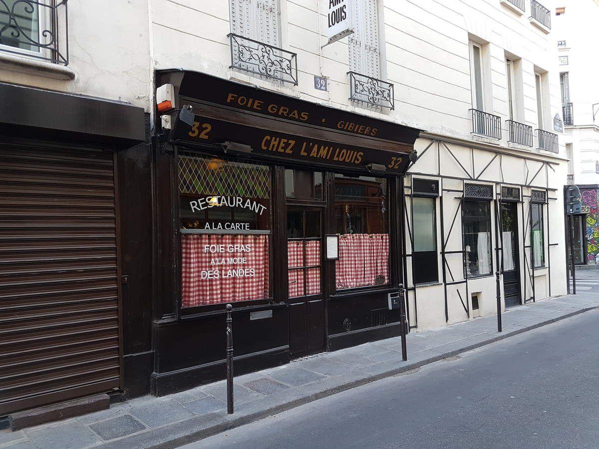 L'Ami Louis Paris 3 Restaurant rue du Vert Bois