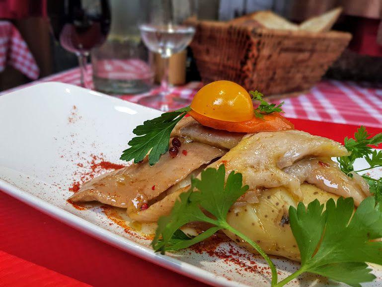 Harengs pommes à l'huile Chez Papinou Neuilly sur Seine Restaurant