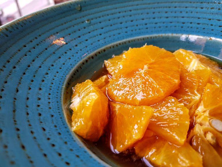 Salade d'orange à la cannelle et menthe Gabylou restaurant Paris 17
