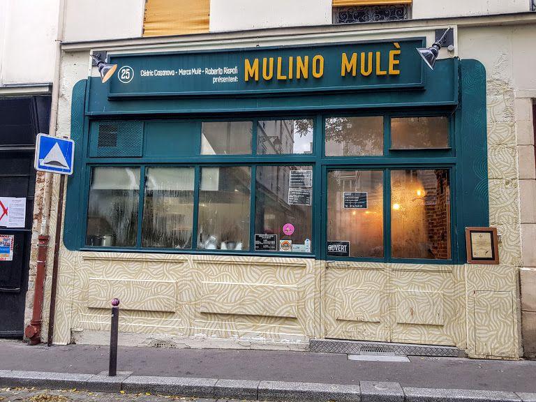 Mulino Mulè restaurant Paris 10 Rue Sainte Marthe
