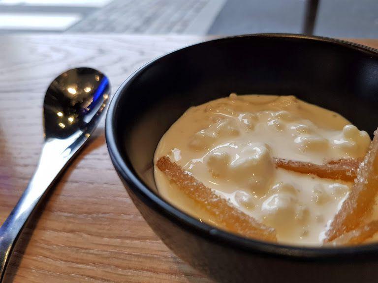 Demi-dessert : Riz au lait yuzu et gingembre confit SUPU ramen restaurant Paris 6