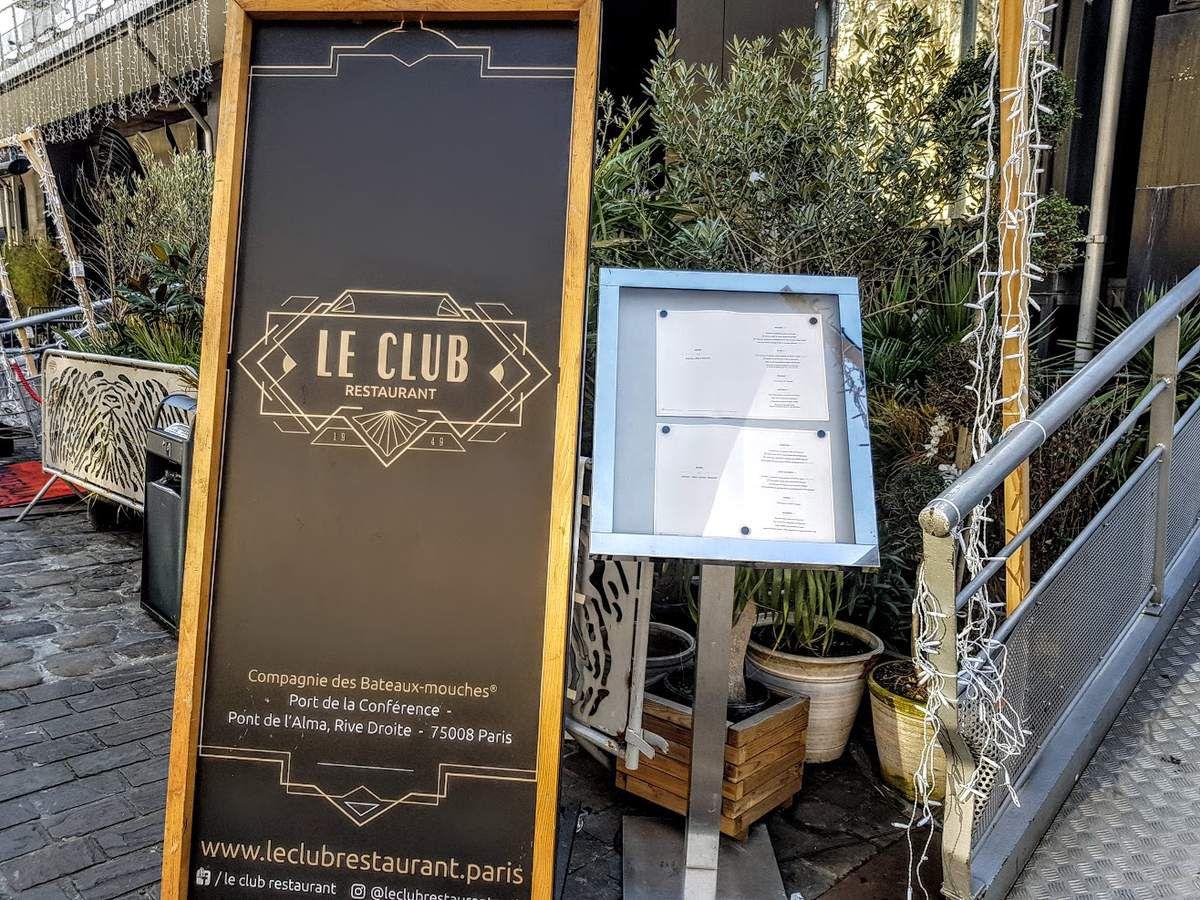 Le Club restaurant Paris 8 port conférence