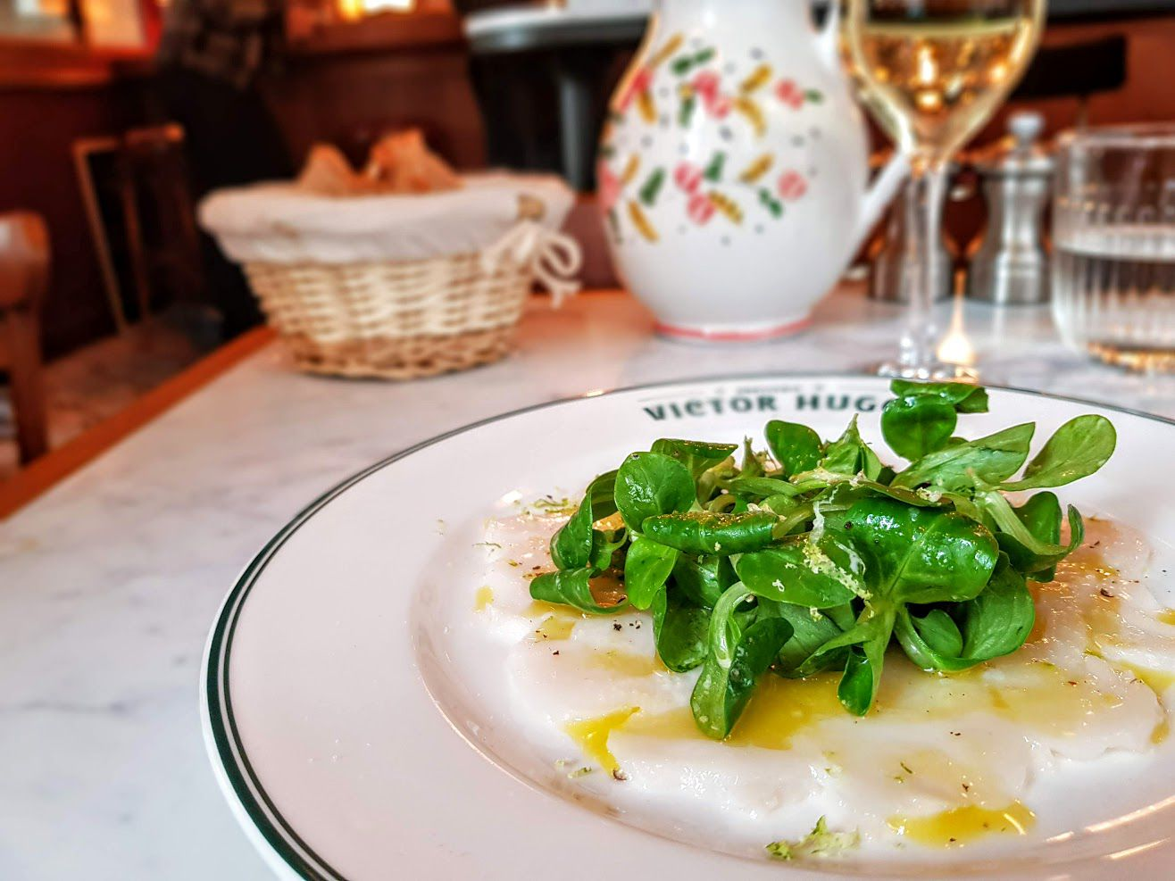 Carpaccio Saint Jacques Brasserie Victor Hugo restaurant Paris 16