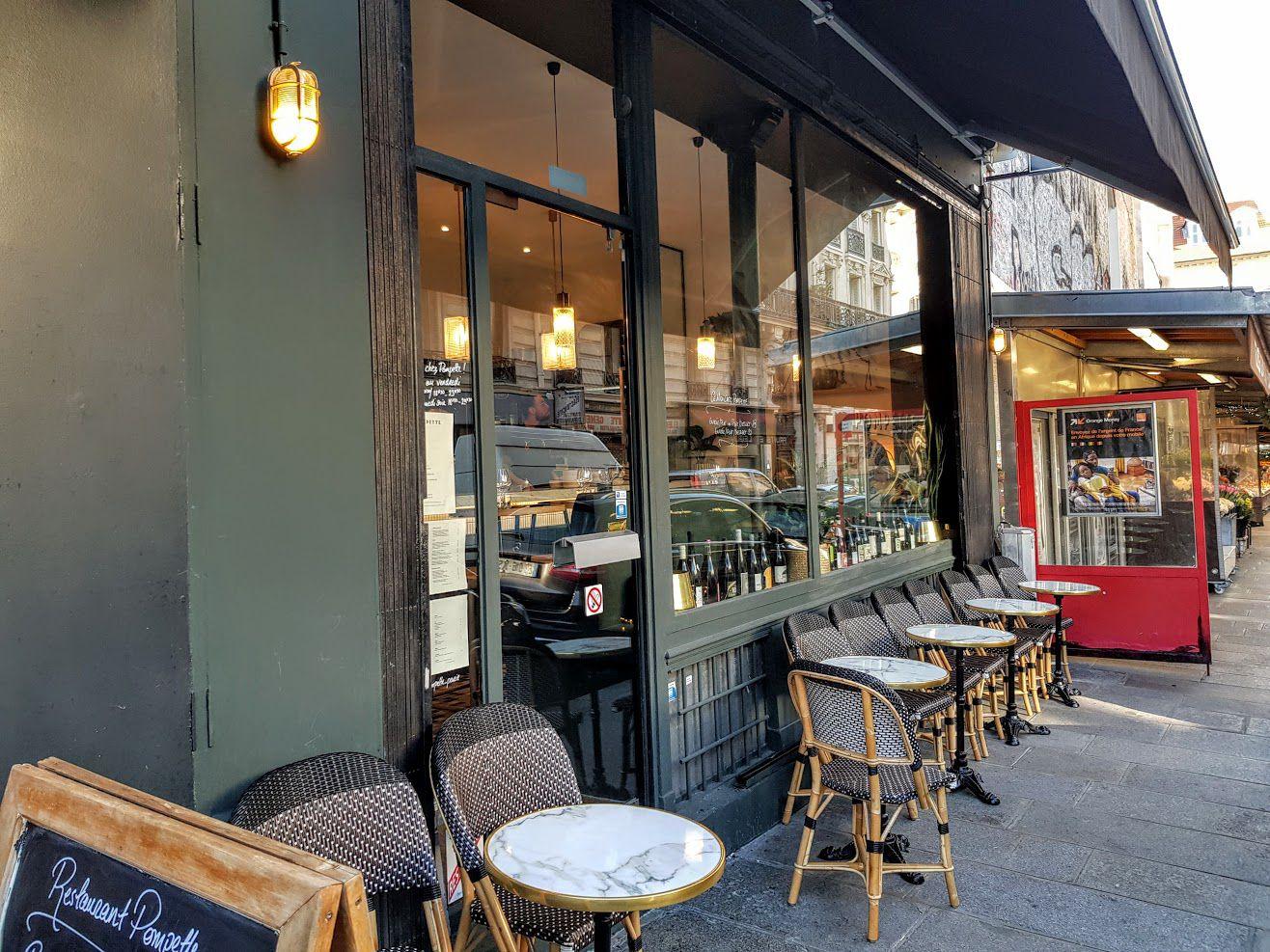Pompette restaurant Paris 9 rue Hippolyte Lebas