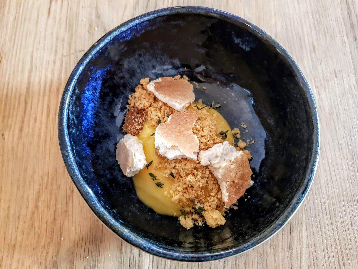 Lemon Curd, meringue et sablé au beurre noisette Pompette restaurant Paris 9