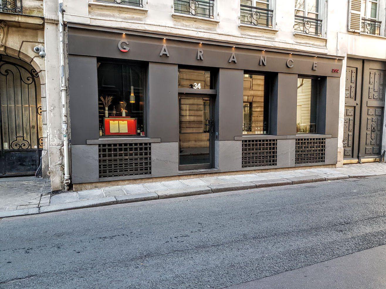 Garance restaurant Paris 7 rue Saint Dominique