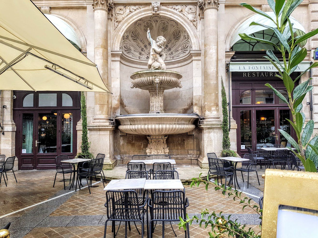 La Fontaine Gaillon restaurant Paris 2 rue de la Michodière