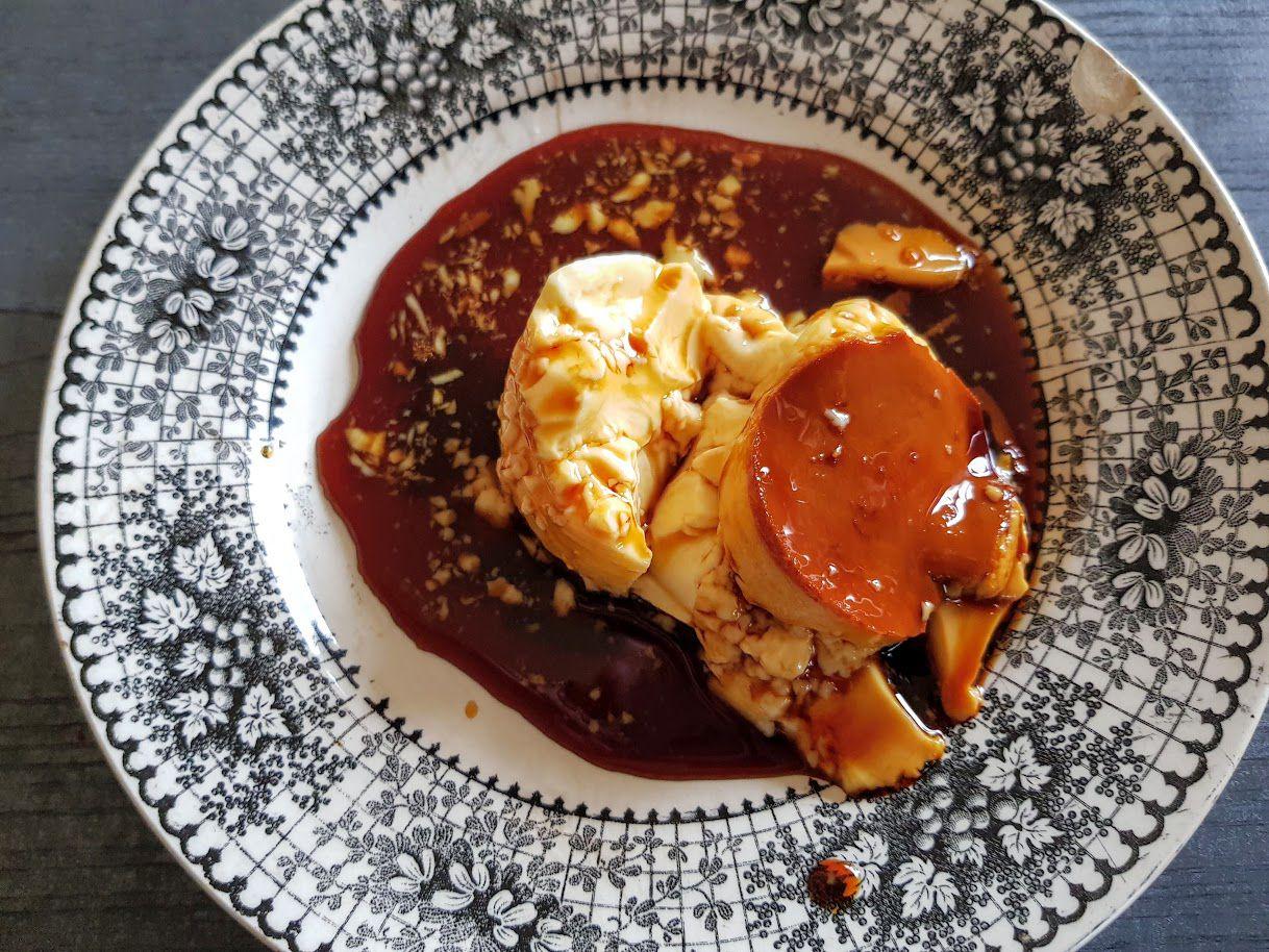 Crème caramel au savagnin Septime à la maison restaurant Paris 11