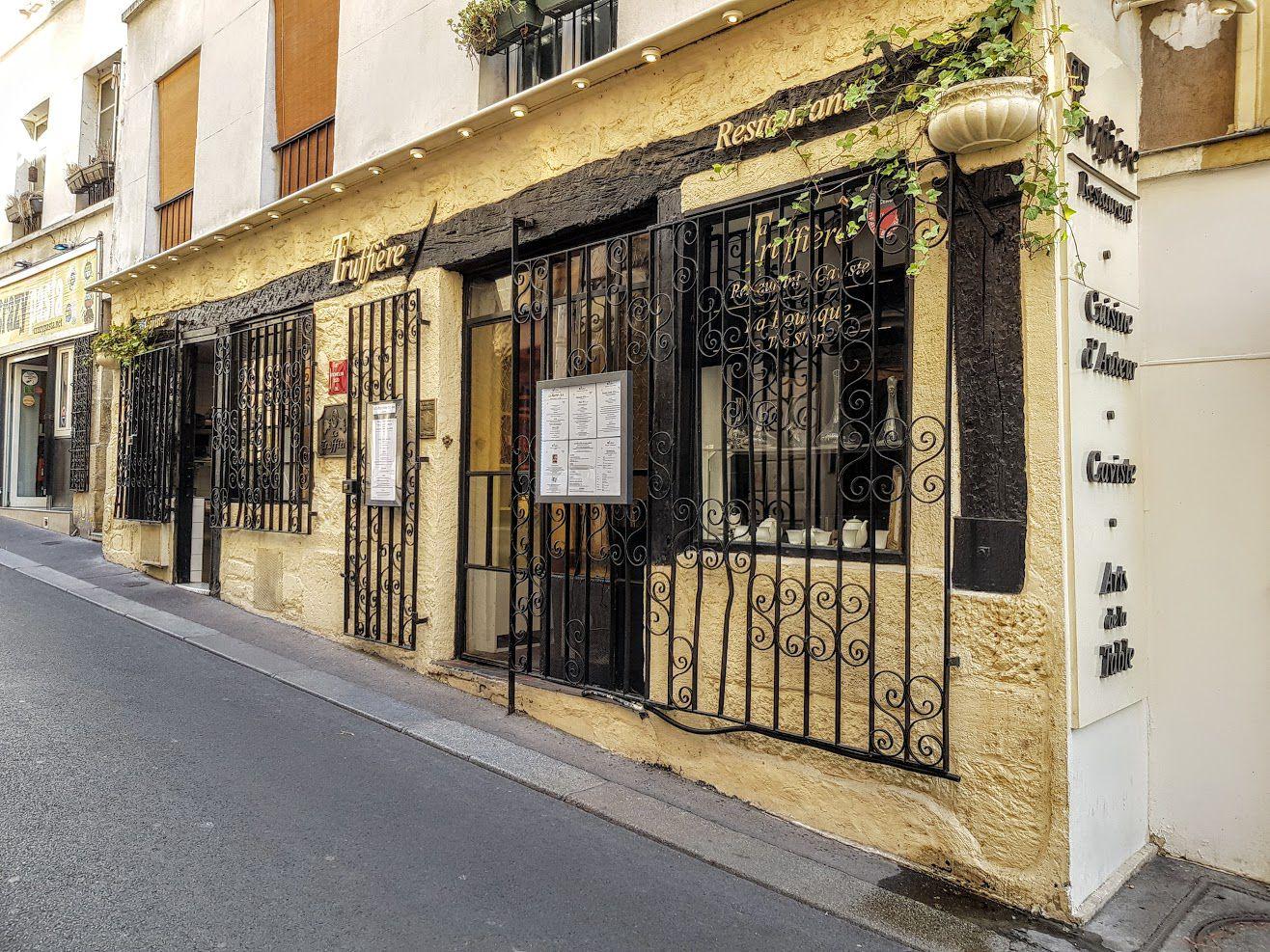 La Truffière restaurant Paris 5 rue Blainville