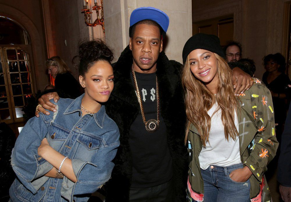 Riri, Jay-Z et Queen B✌❤