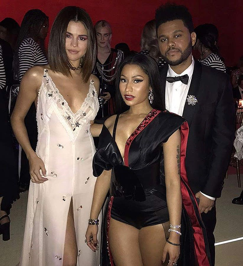 Selena Gomez, Nicki Minaj et The Weeknd ✌❤
