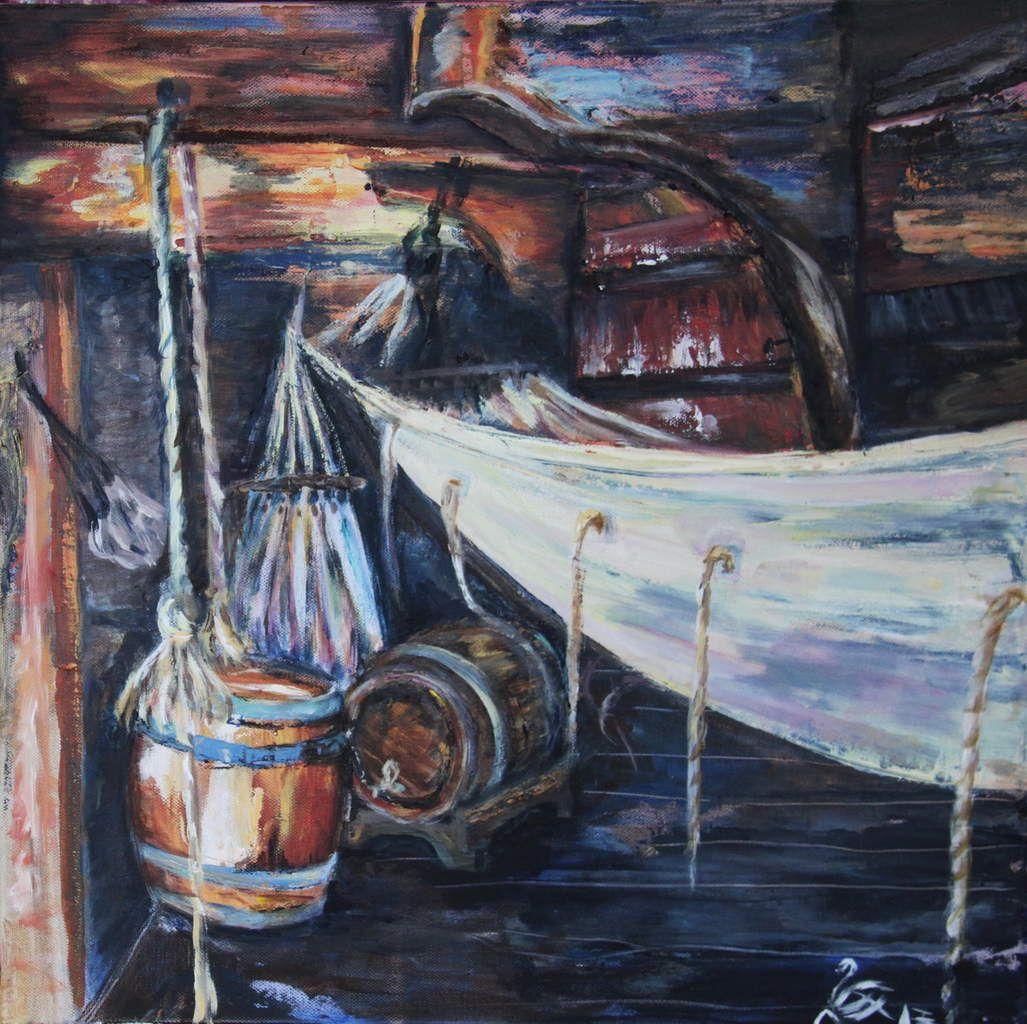 vieux gréement, tonneau, hamac, cordage