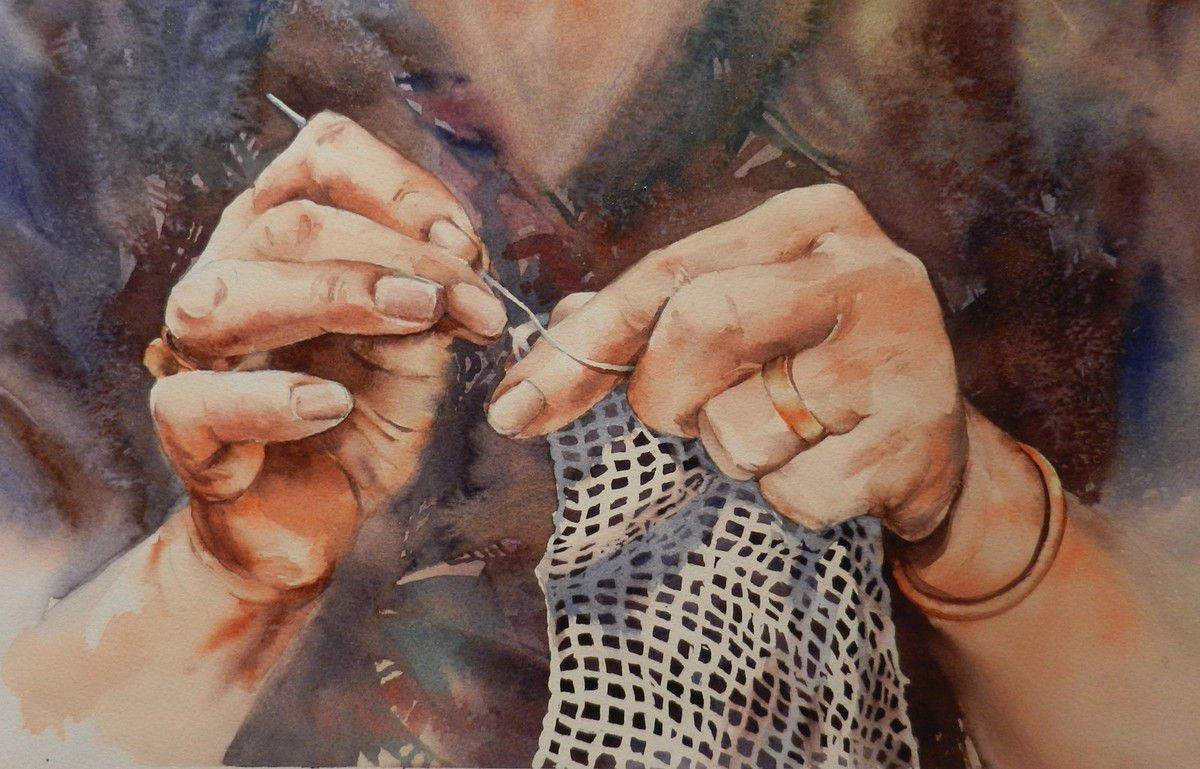 artiste aquarelliste Martine Jolit expose au festival international d'aquarelle de Morcenx