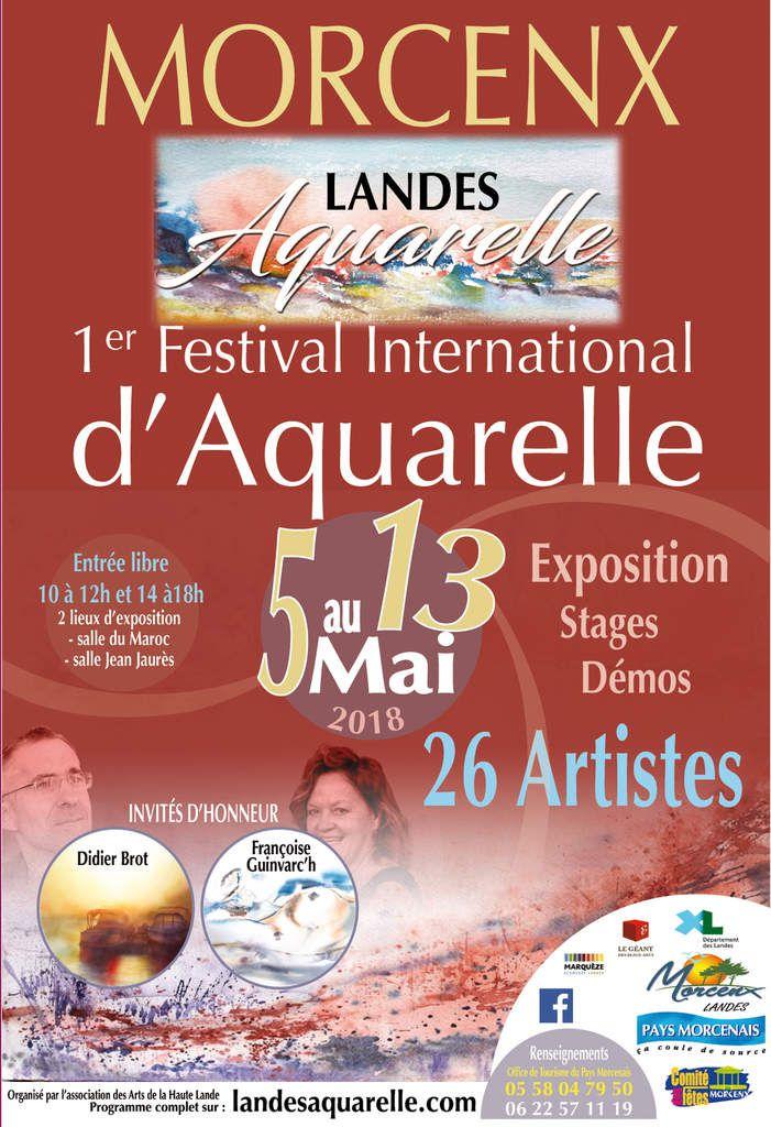 Festival Landes aquarelle à Morcenx 40110 du 5 au 13 mai 2018