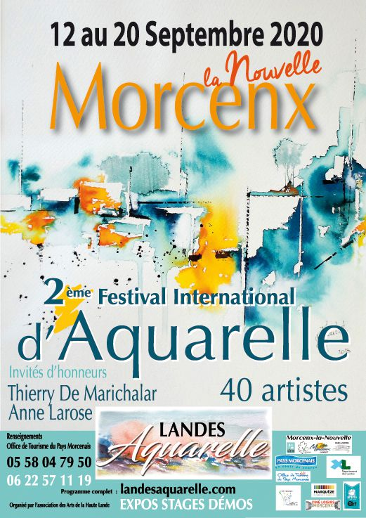 Landes aquarelle festival du 12 au 20/09/2020 exposition, démonstrations et stages d'aquarelle Salon internatonal d'aquarelle