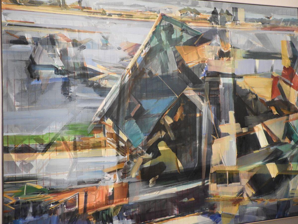 Ce tableau représente le terrible tsunami en Indonésie...Essayez de remettre les images en ordre...