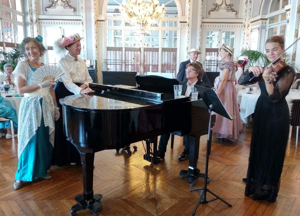 Gouter Proustien au Grand Hotel , en musique