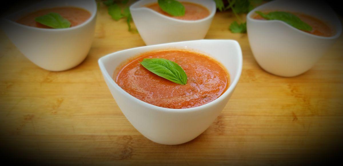 Gaspacho de pastèque et tomates