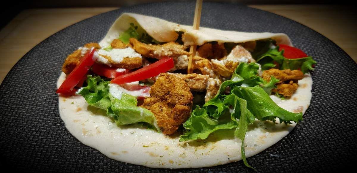 Galette de blé façon kebab