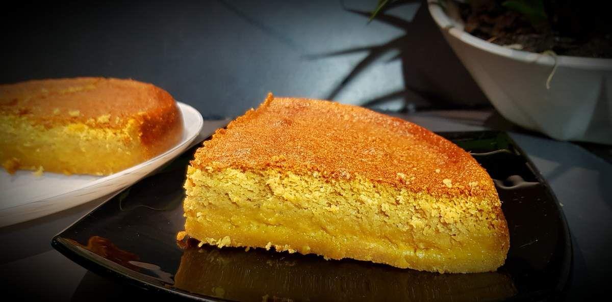 Gâteau magique au caramel beurre salé