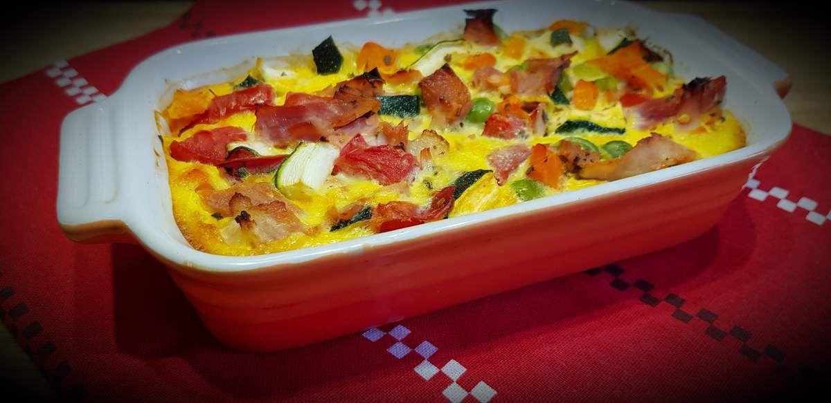 Flan de légumes et au jambon