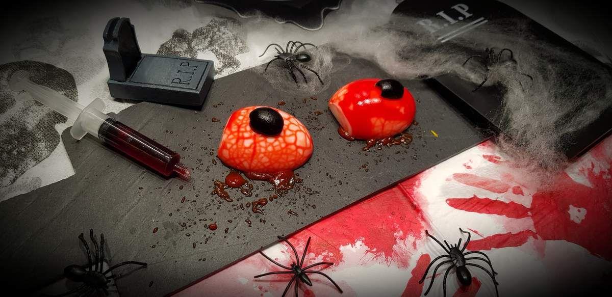 Yeux sanguinolents pour halloween