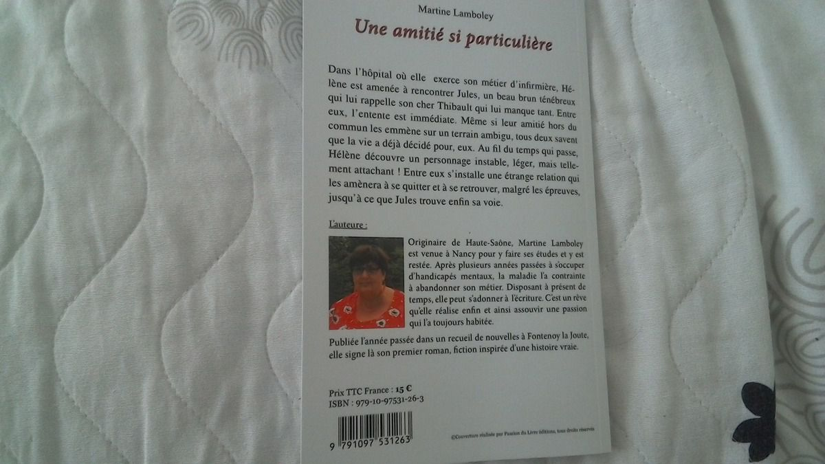 UNE AMITIE SI PARTICULIERE de Martine LAMBOLEY