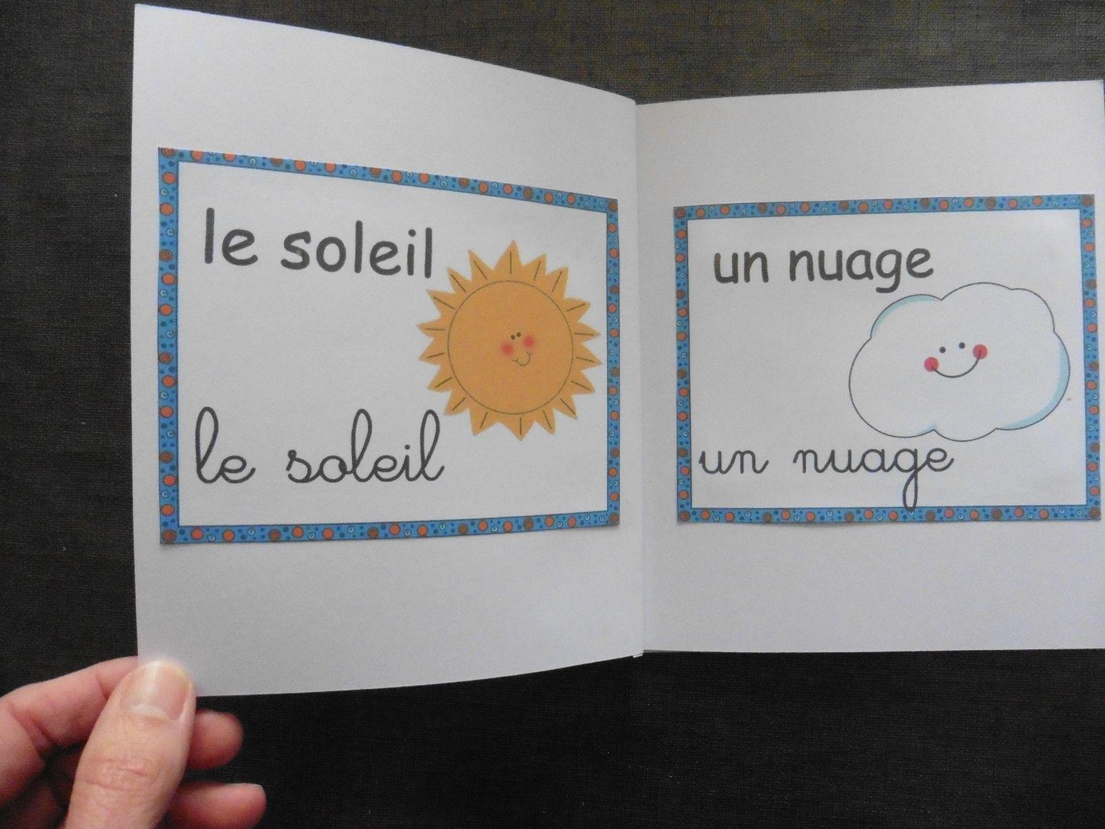 Livret imagier METEO (soleil, pluie, vent...)