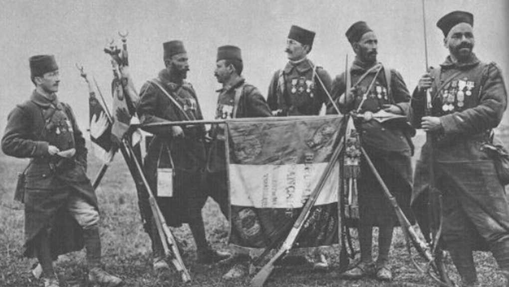 Le 7ème régiment de tirailleurs Algériens en 1917 (Photo Wikipedia)