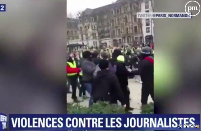 """Gilets Jaunes : escalade de la violence contre les journalistes, appel à """"un sursaut citoyen"""" par Vincent Lanier du SNJ"""