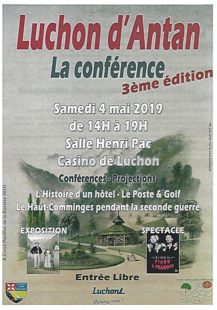 """Samedi, les amoureux du Luchon d'antan ont rendez-vous avec """"La Conférence"""""""