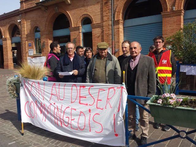 Non au désert Commingeois : action de réouverture symbolique de la trésorerie de l'Isle-en-Dodon