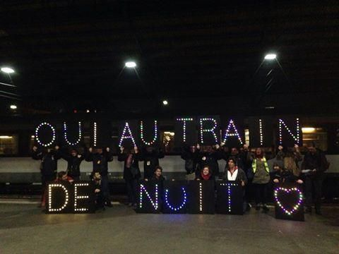 (Photo : Facebook @ Oui au train de nuit, au-revoir Guillaume Pépy) -