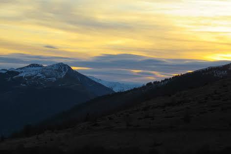 Pays de Luchon : lever du jour dans le Larboust