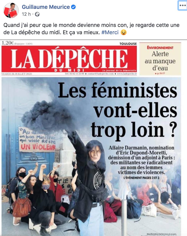 """Féminisme : quand l'humoriste Guillaume Meurice tacle """"La Dépêche"""""""