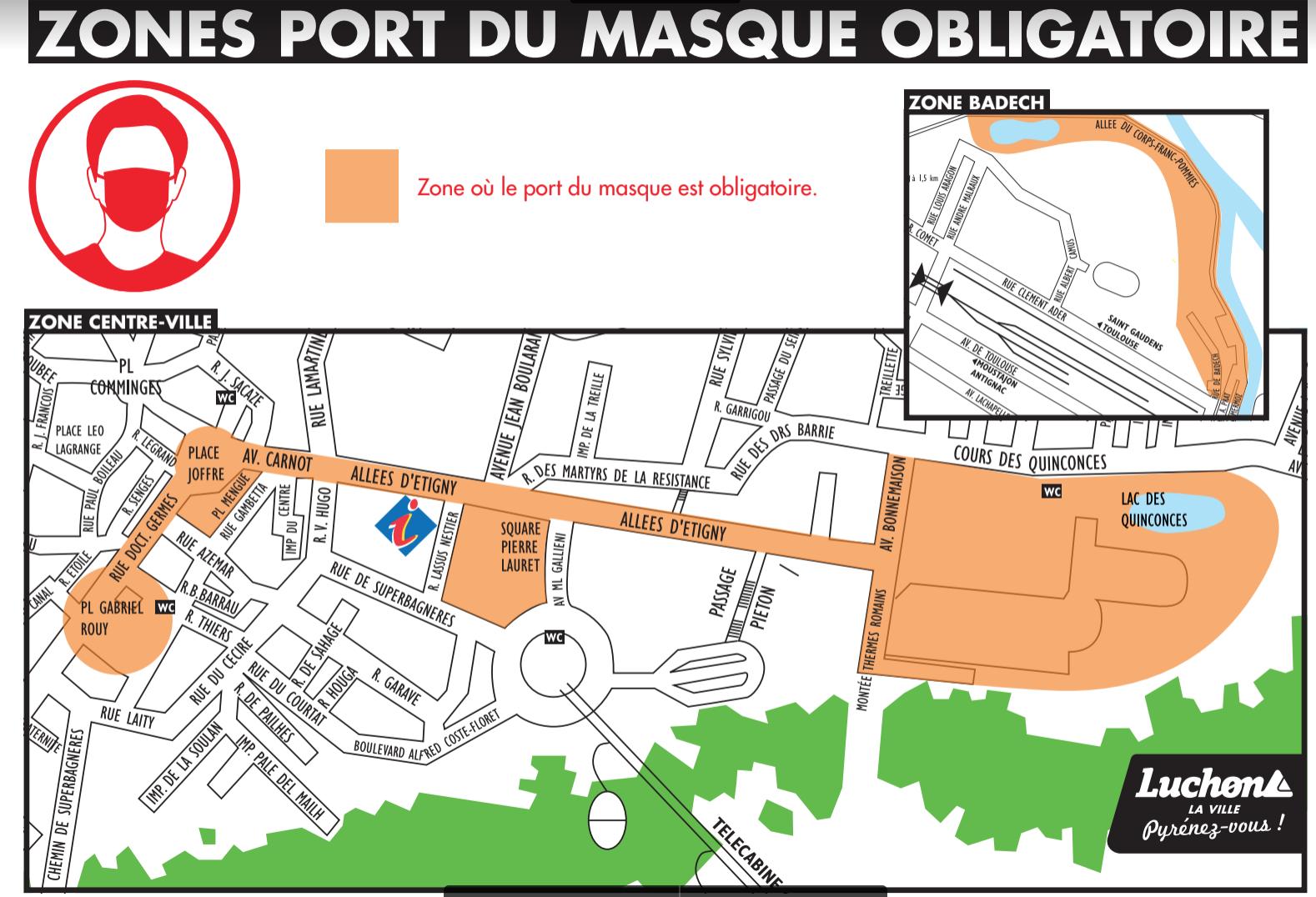Port du masque obligatoire à Luchon dès ce jeudi : découvrez les zones concernées par la mesure